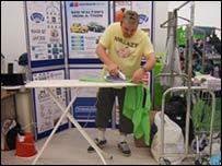 Ben Walton ironing