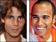 Rafael Nadal and Lewis Hamilton