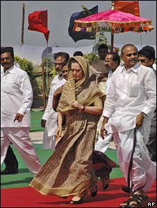 Sonia Gandhi in Hyderabad
