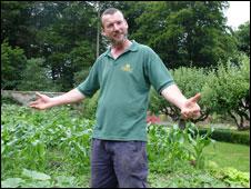 National Trust gardener Kevin O'Donnell