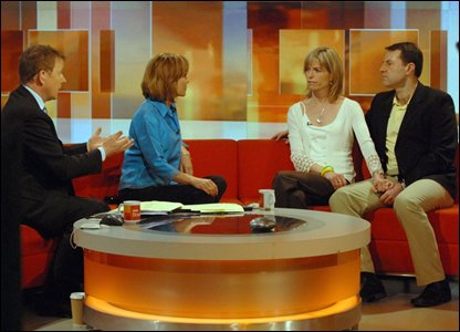 Kate and Gerry McCann on the BBC Breakfast set