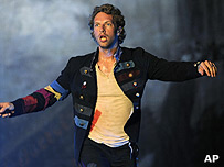 Chris Martin from Coldplay