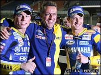 James Toseland, Herve Poncharal and Colin Edwards