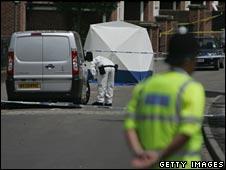 Police at scene of Bristol stabbing