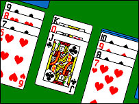 Comupter game of solitaire