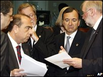EU foreign ministers in Brussels, file picture