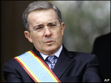 Colombia's President Alvaro Uribe