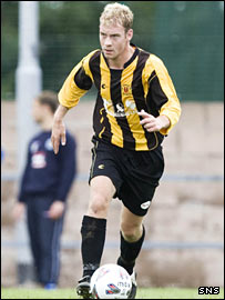Annan Athletic defender Alan Inglis