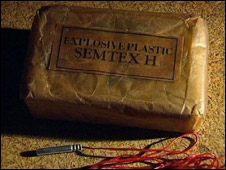 A block of Semtex (file photo)