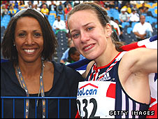 Dame Kelly Holmes and Stephanie Twell