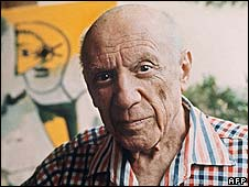 Pablo Picasso, photographed in 1971