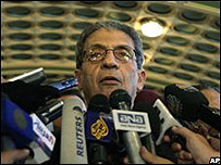 Amr Moussa, secretario general de la Liga