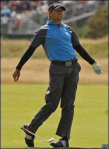 Among the favourites at the start of the Open, Sergio Garcia shows his frustration as another major passes him by