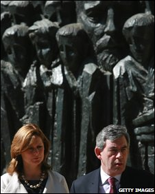 Gordon and Sarah Brown at the Yad Vashem Memorial Museum