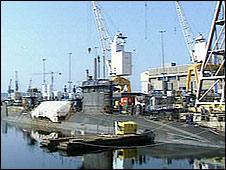 Submarine at Devonport Naval Base