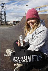 Una joven en Longyearbyen