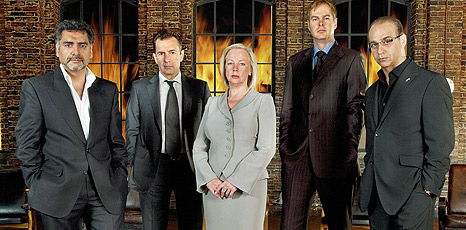 James Caan, Duncan Bannatyne, Deborah Meaden, Peter Jones and Theo Paphitis