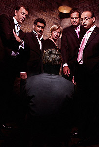 Duncan Bannatyne, James Caan, Deborah Meaden, Peter Jones and Theo Paphitis