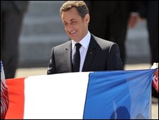 French President Nicolas Sarkozy at Bastille Day celebrations, 14/07/08