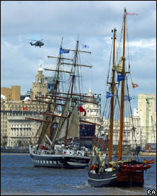The Stavros S Niarchos on the River Mersey