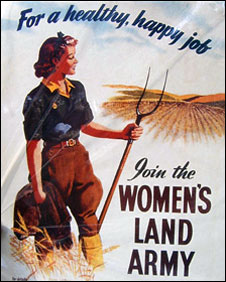Women's Land Army recruitment poster