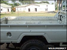 Ambushed truck (Image: WildlifeDirect)