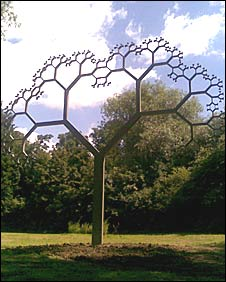 Steel tree sculpture