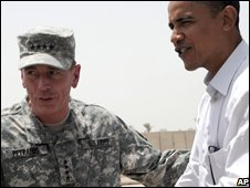 Gen. David Petraeus and Senator Barack Obama