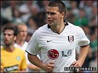 David Healy pictured during the pre-season game against Celtic