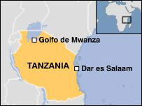 Mapa de Tanzania.