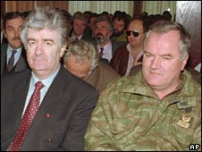 Radovan Karadzic and Ratko Mladic. Photo: 1995