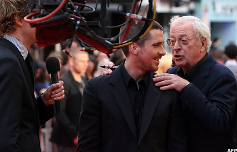 Christian Bale and Michael Caine