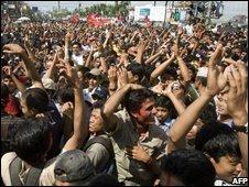 Maoists suppporters in Kathmandu last May