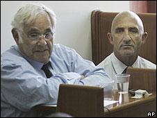 Morris Talansky in a Jerusalem court (22/07/08) - AP