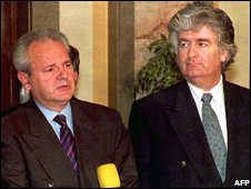 Slobodan Milosevic and Rodovan karadzic in 1994
