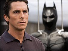 Christian Bale as Bruce Wayne/Batman in The Dark Knight