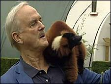 John Cleese with lemur