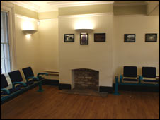The waiting room at Flint train station