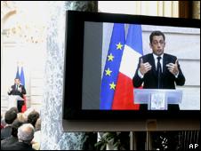 Nicolas Sarkozy aon television