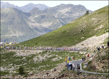The riders also face a punishing 2,802m climb to the top of the Col de la Bonnette - the highest road pass in Europe