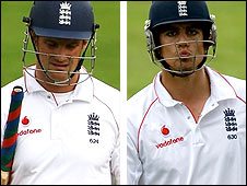 England batsmen Andrew Strauss (left) and Alastair Cook