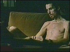 Bale lost 63lb (28.5kg) for his role in dark thriller The Machinist