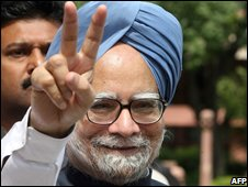 Indian PM Manmohan Singh - 22/7/2008