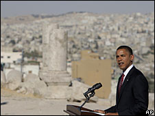 Barack Obama, in Amman, Jordan, 22 July 2008