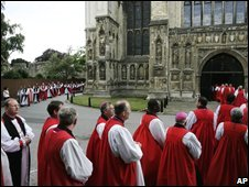 Anglican bishops at Canterbury Cathedral