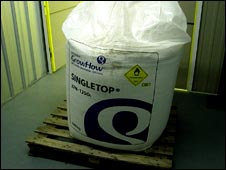 Fertiliser kept in a storage centre as part of a bomb plot