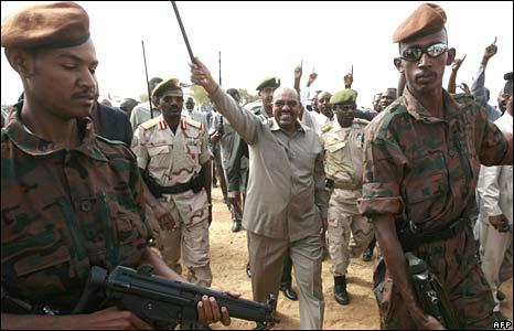 Sudanese President Omar al-Bashir in north Darfur