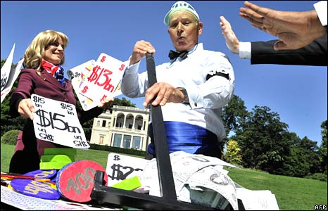 A protest on the sidelines of WTO talks in Geneva