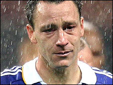 John Terry is inconsolable after missing a penalty in the Champions League final