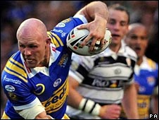 Leeds Rhinos centre Keith Senior in action against Hull